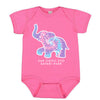 Elephant Kaleidoscope Infant Romper