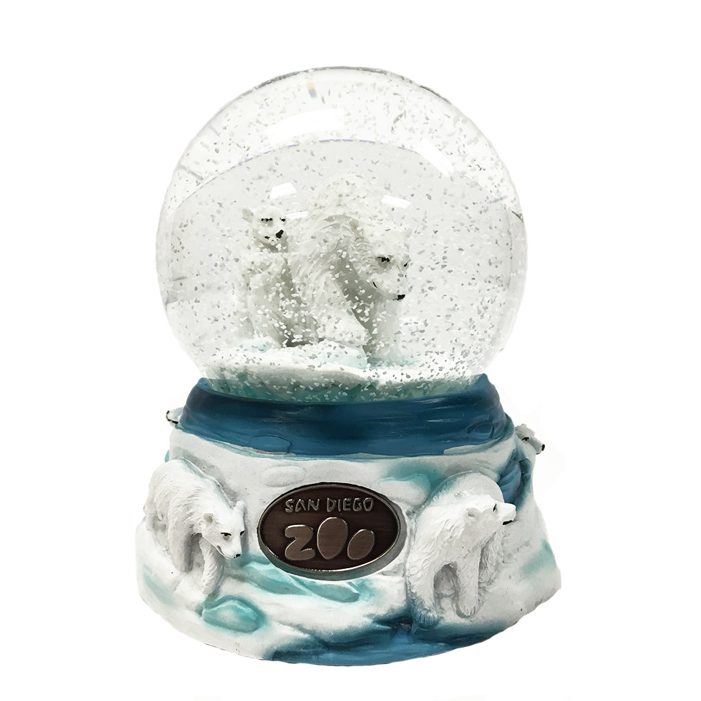 Cadona Musical Water Globe – San Diego Zoo Polar Bear Family