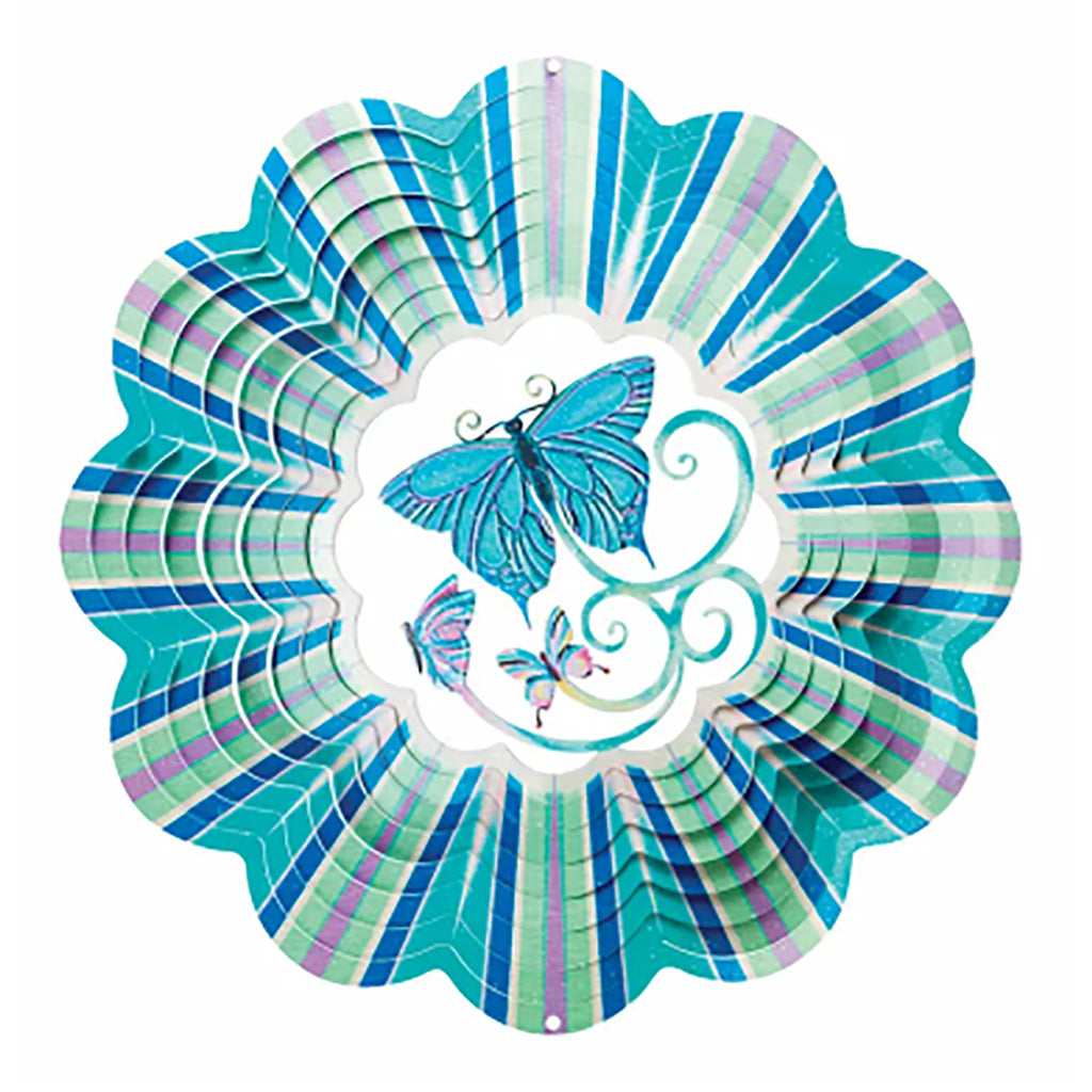 3D Blue Butterfly Animated Wind Spinner