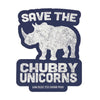 Save The Chubby Unicorns Sticker - Blue