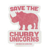 Save The Chubby Unicorns Sticker - Salmon
