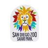 Colorful Lion Head Sticker