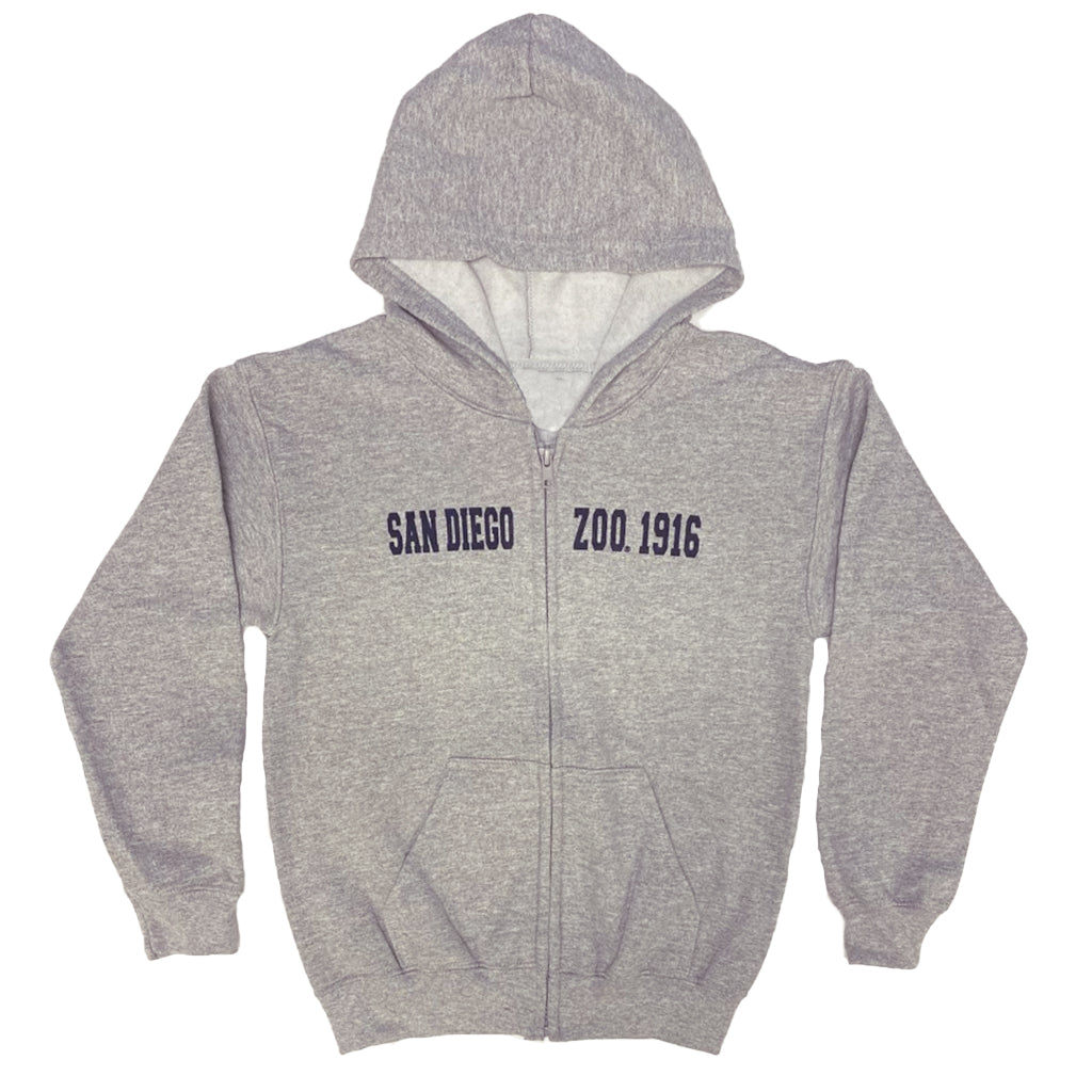 San Diego Zoo Est 1916 Kids Sweatshirt-Heather Gray