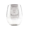Lion Head Glass Stemless Wine
