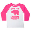 Save the Chubby Unicorns Youth Baseball Tee