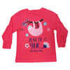 Girls Long Sleeve Sloth Tee