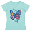 Be The Change Butterfly Ladies T-shirt