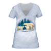 Polar Bear with Cubs Ladies Tee