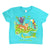 Wild By Nature Toddler Tee-Aqua Blue