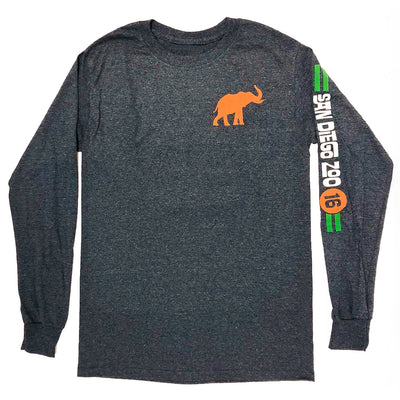 Long Sleeve Elephant Throwback Tee
