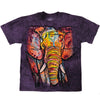 Tie Dye Elephant Adult T-shirt