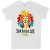 Colorful Lion 100 Year White Adult Tee