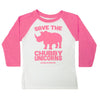 Save the Chubby Unicorns Toddler Baseball Tee