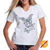 Butterfly Wings Color Change Ladies T-shirt