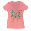 Butterfly Henna Print Ladies T-shirt