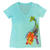 Floral Giraffe Ladies Tee