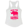 Save the Chubby Unicorns Ladies Tank