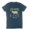 Life Needs Hippos Adult Tee
