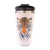 Tiger Green Eyes Coffee Tumbler