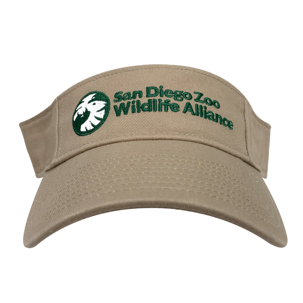 San Diego Zoo Wildlife Alliance Visor - Khaki