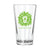 Lion Head Pint Glass-Lime