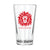 Lion Head Pint Glass-Red