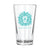Lion Head Pint Glass-Turquoise