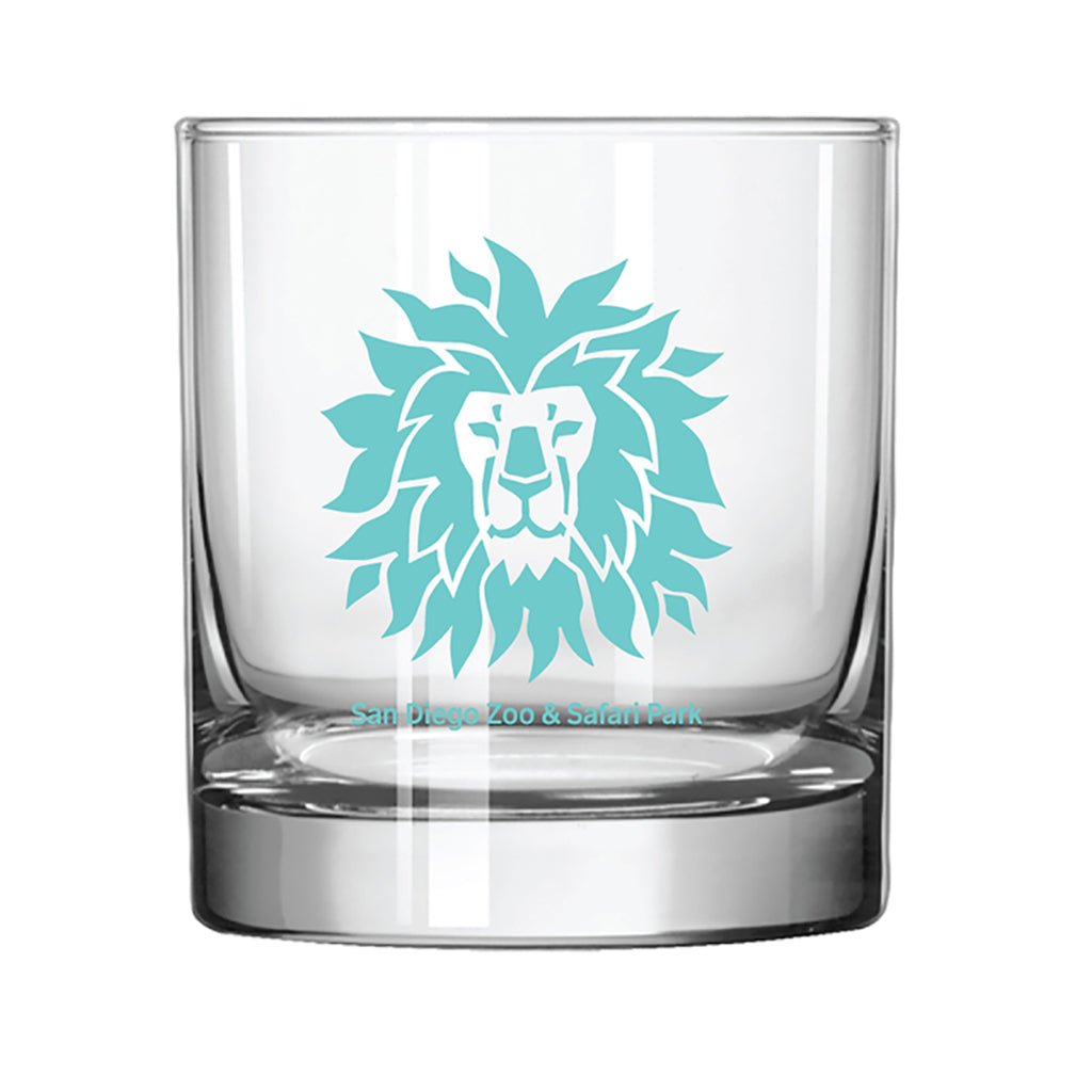 Lion Head Rocks Glass-Turquoise