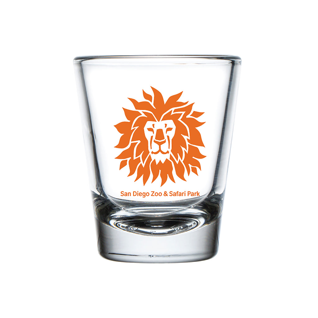 Lion Head Shot Glass-Orange