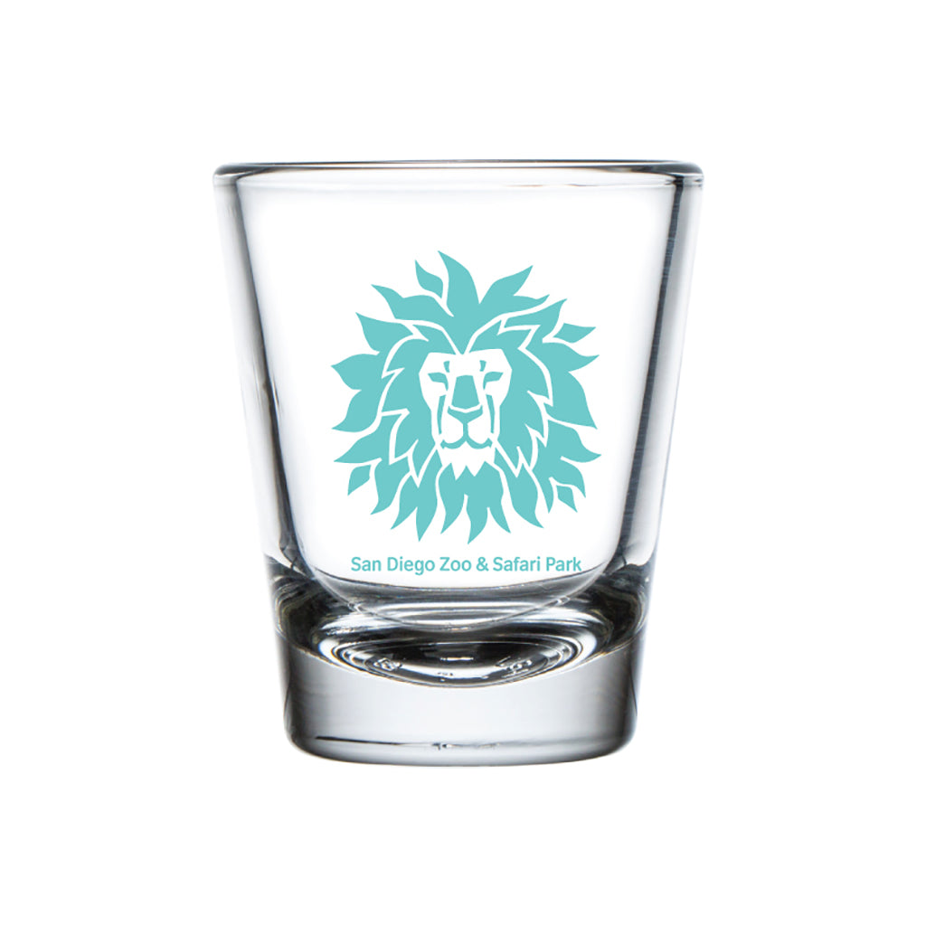 Lion Head Shot Glass-Turquoise
