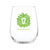 Lion Head Stemless Wine Glass-Lime