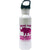 Save The Chubby Unicorns Water Bottle - White & Pink