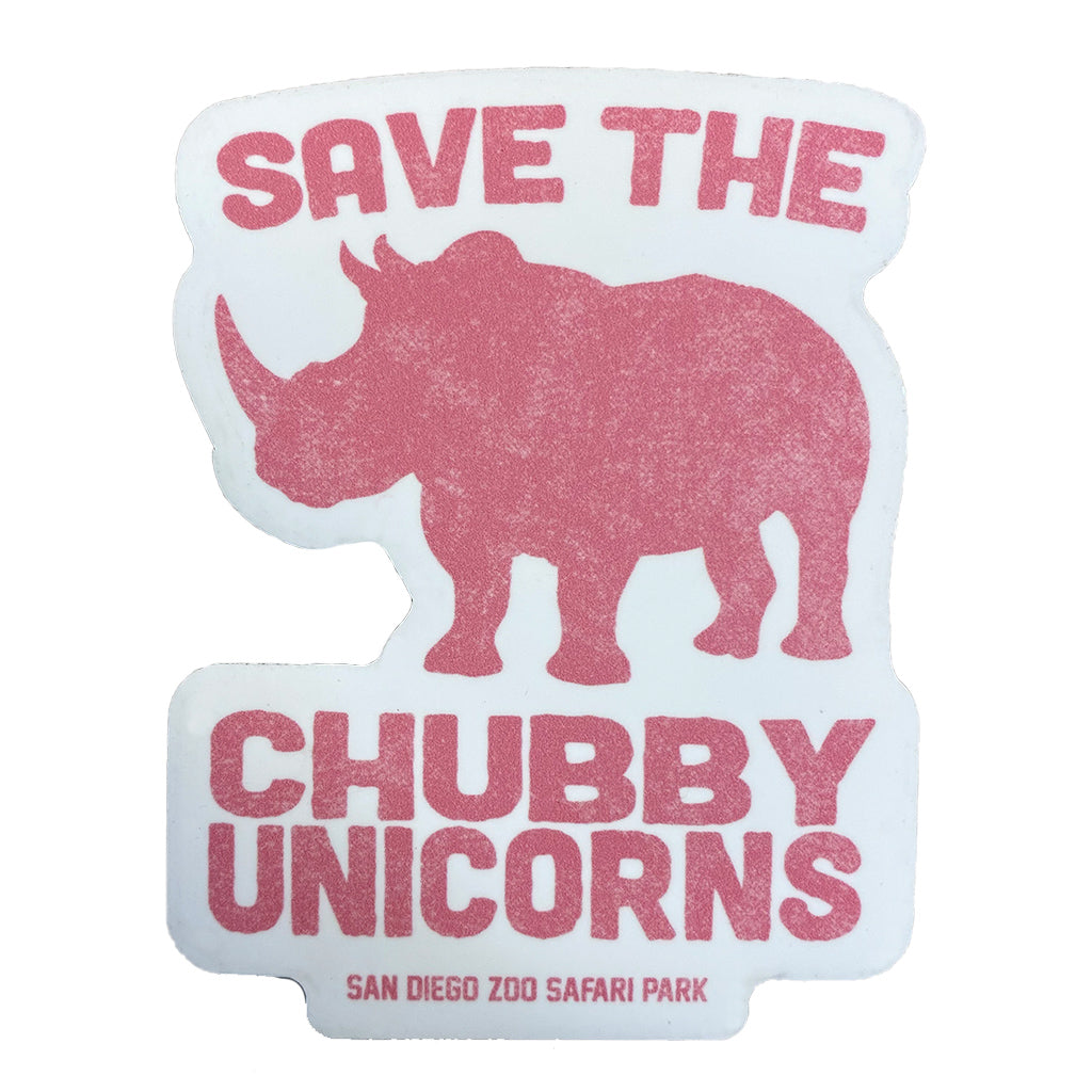 Save The Chubby Unicorns Magnet - Salmon Pink