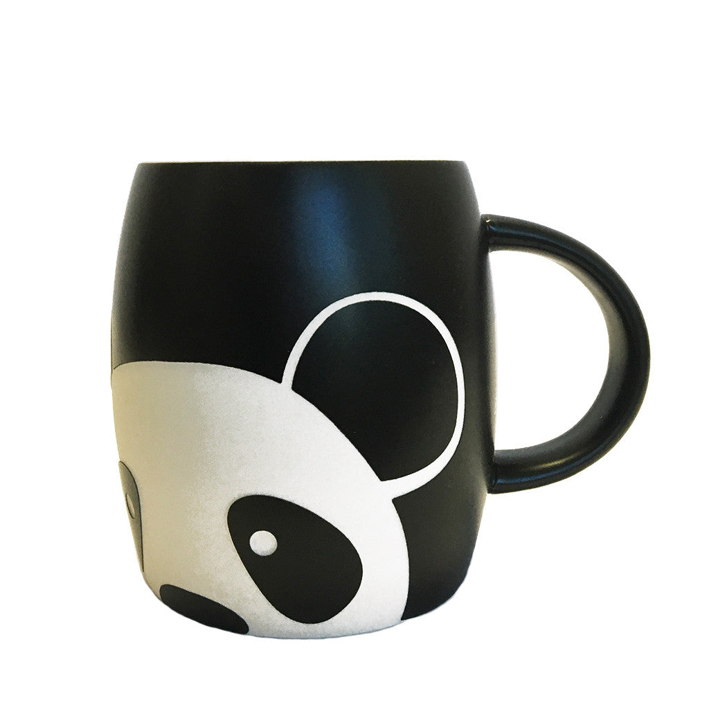Panda Face Etched Mug