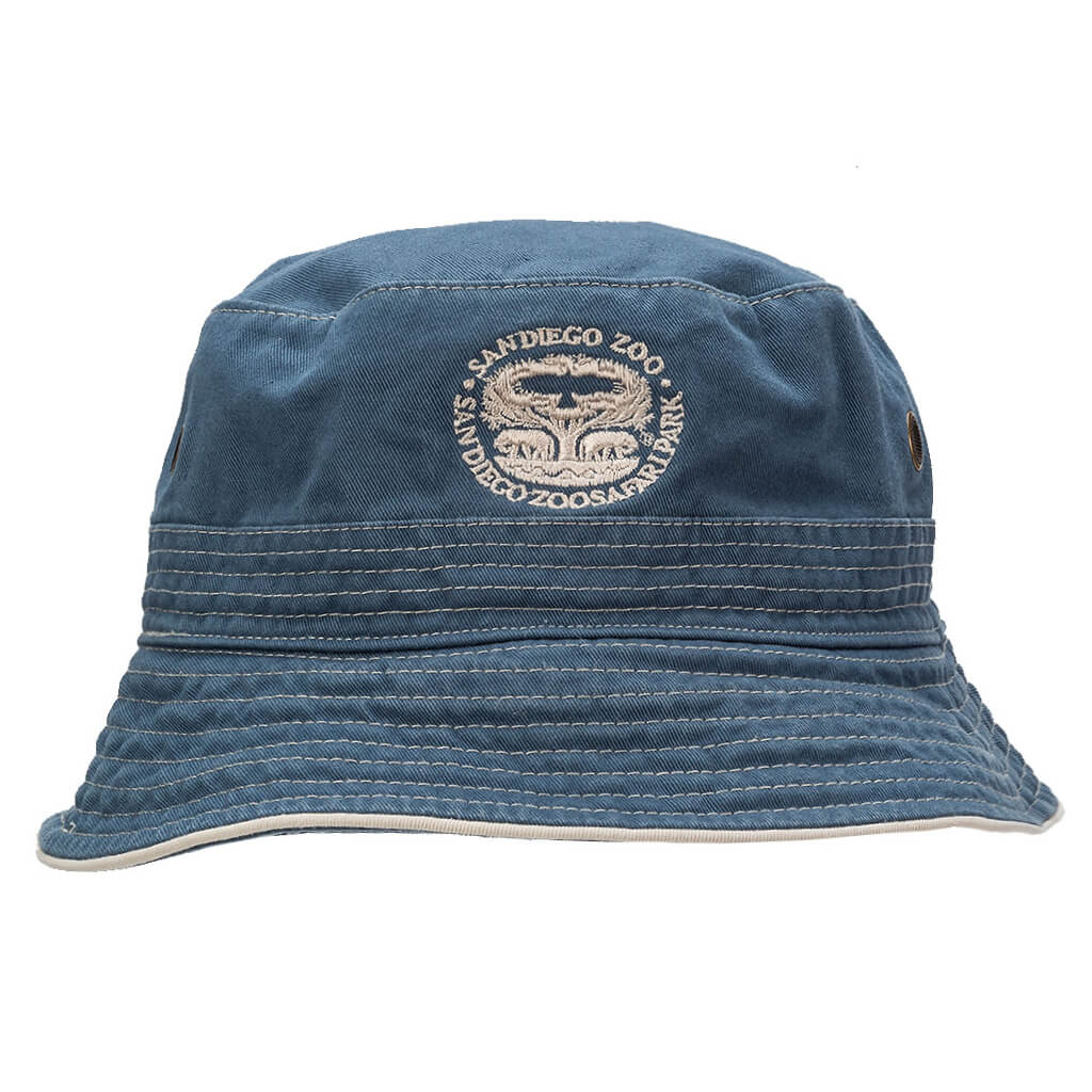 Tree of Life Bucket Hat - Slate Blue
