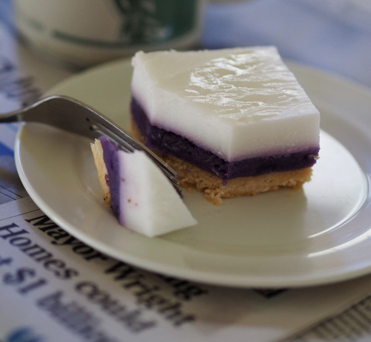 Okinawan Sweet Potato Haupia Macadamia Nut Pie