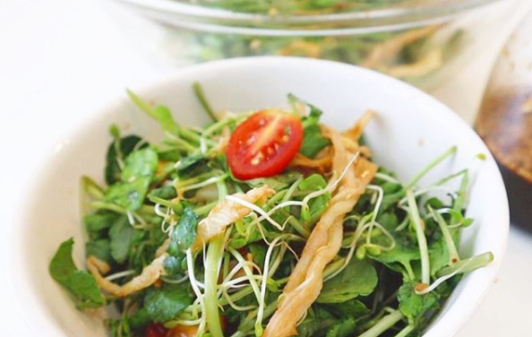 Watercress Salad with Li Hing Mui Vinaigrette Recipe