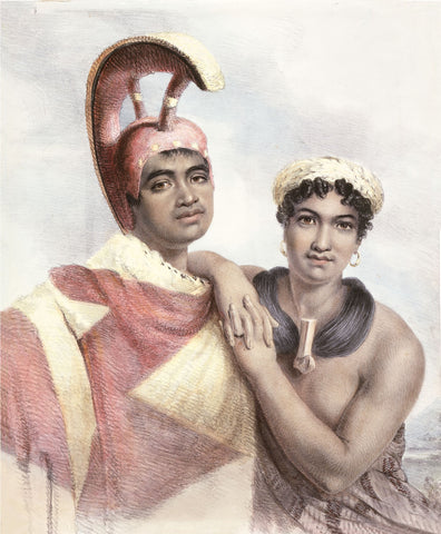 Chief Boki and Liliha, Original_painting_by_John_Hayter,_London,_1824