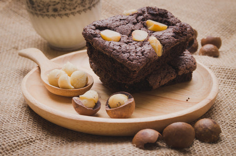 chocolate macadamia nut brownie