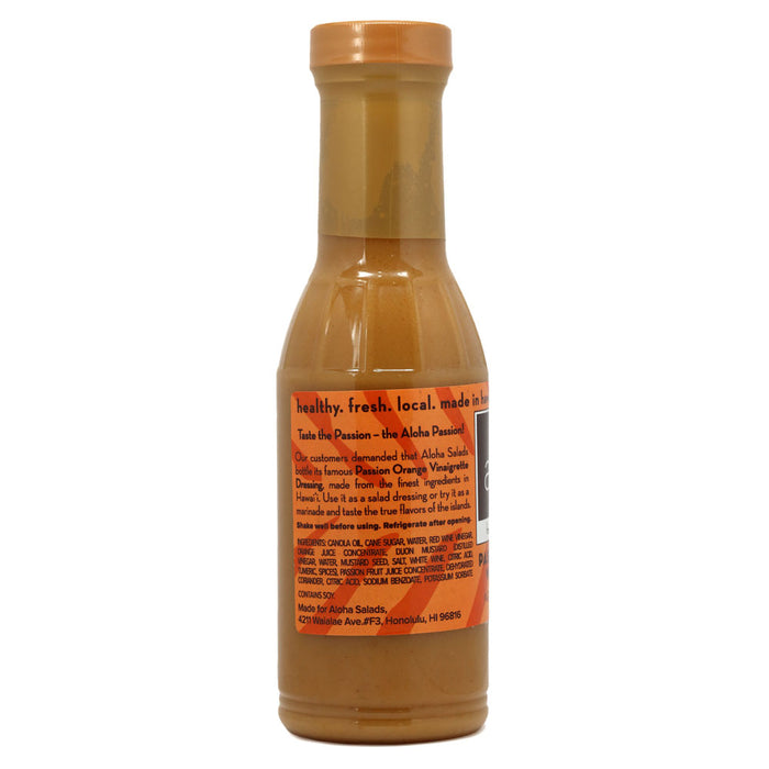 Aloha Salads Passion Orange Vinaigrette - 12 oz back of bottle