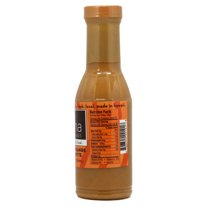 Aloha Salads Passion Orange Vinaigrette - 12 oz nutrition information