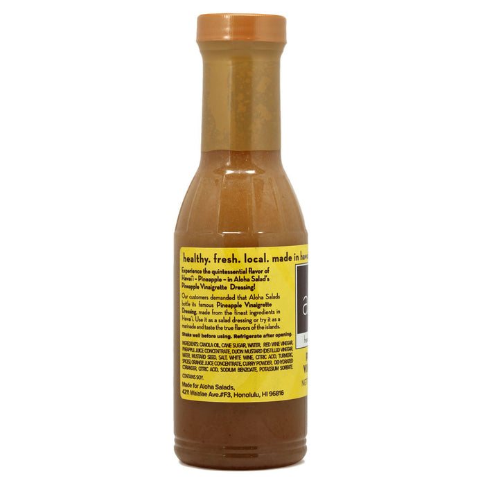 Aloha Salads Pineapple Vinaigrette - 12 oz back of bottle