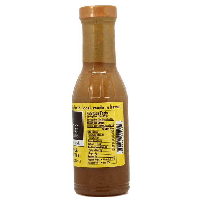Aloha Salads Pineapple Vinaigrette - 12 oz nutrition information