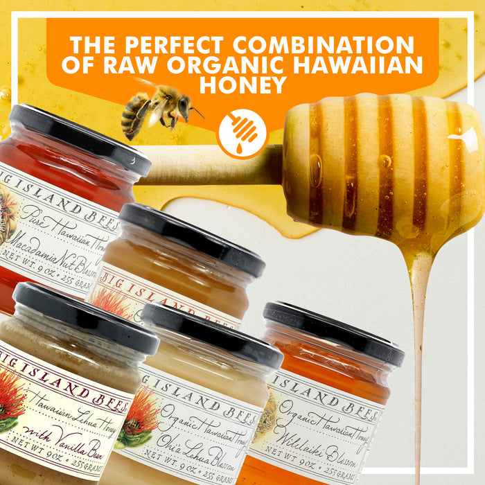 Big Island Bees Honey Gourmet Gift Set