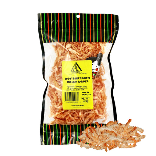 Hot Shredded Dried Squid (Cuttlefish Ika) - 1 Lb.