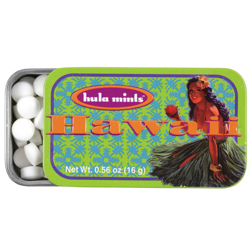 Hawaii Mints Hula Girl Tin - Pack of 12