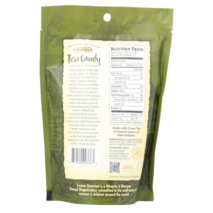Bali's Best Green Tea Latte Candy - 5.3 oz back of bag