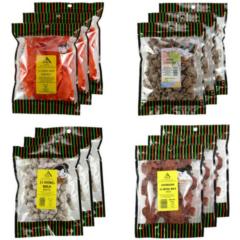 Crack Seed Li Hing Mui - 12 Pack Combo Bundle