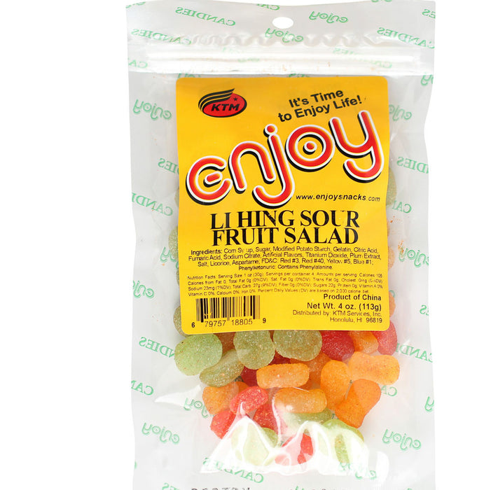 Enjoy Li Hing Sour Fruit Salad - 4 oz or 14 oz
