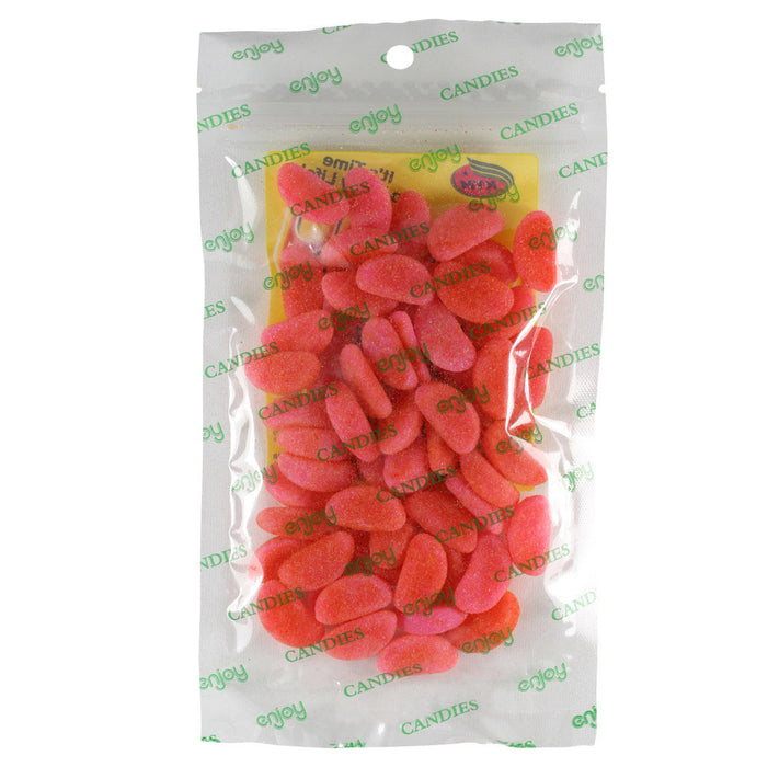 Enjoy Li Hing Sour Watermelons - 4 oz or 16 oz back of bag